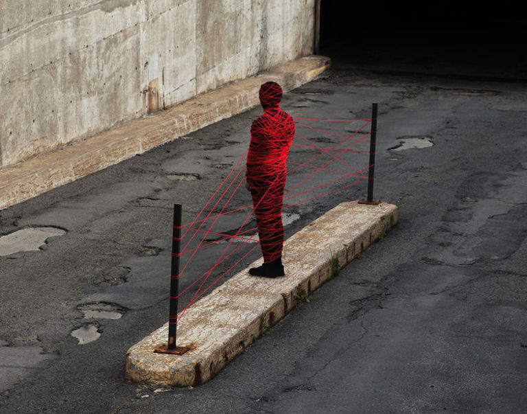 Sean Mundy - Untitled (Red Thread), 2018, minus37